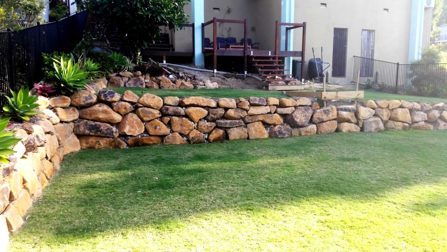 Garden bush rock landscaping