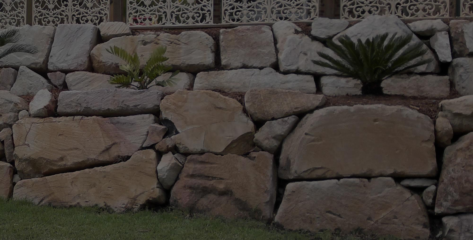 Random stone rock wall gold coast