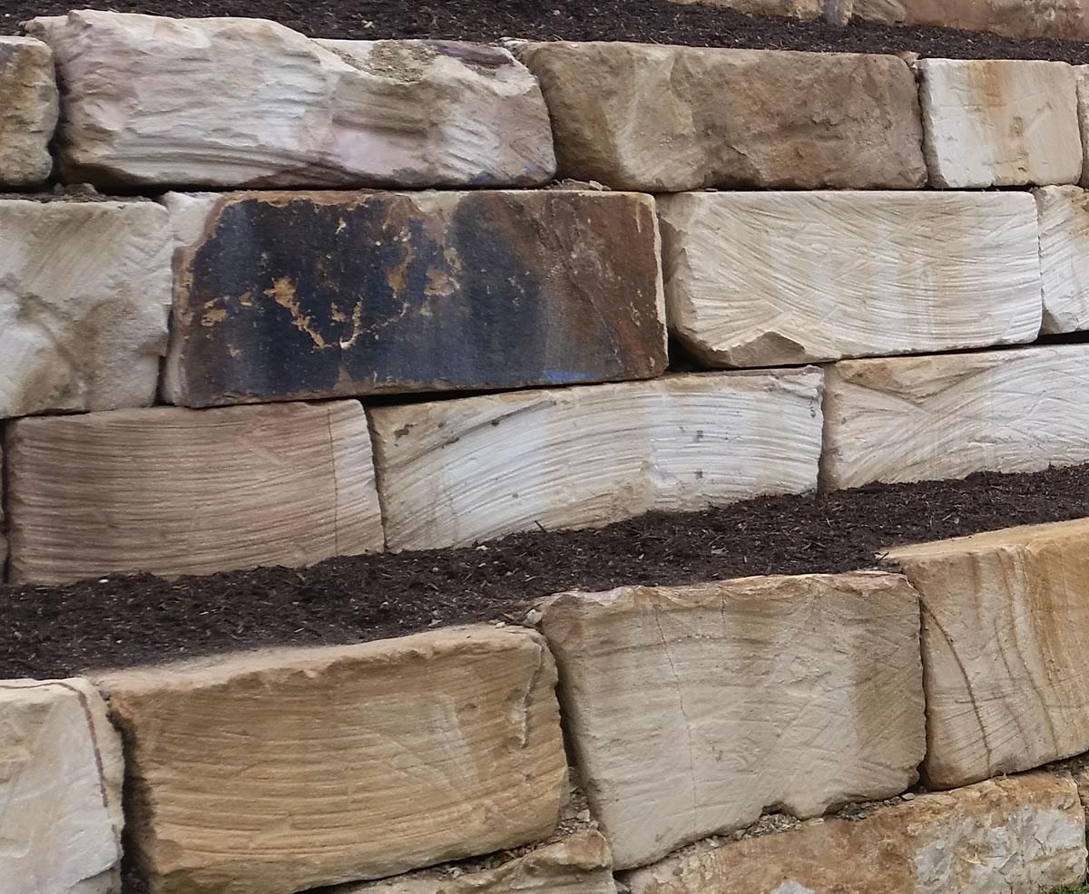 gold coast B grade sandstone walls
