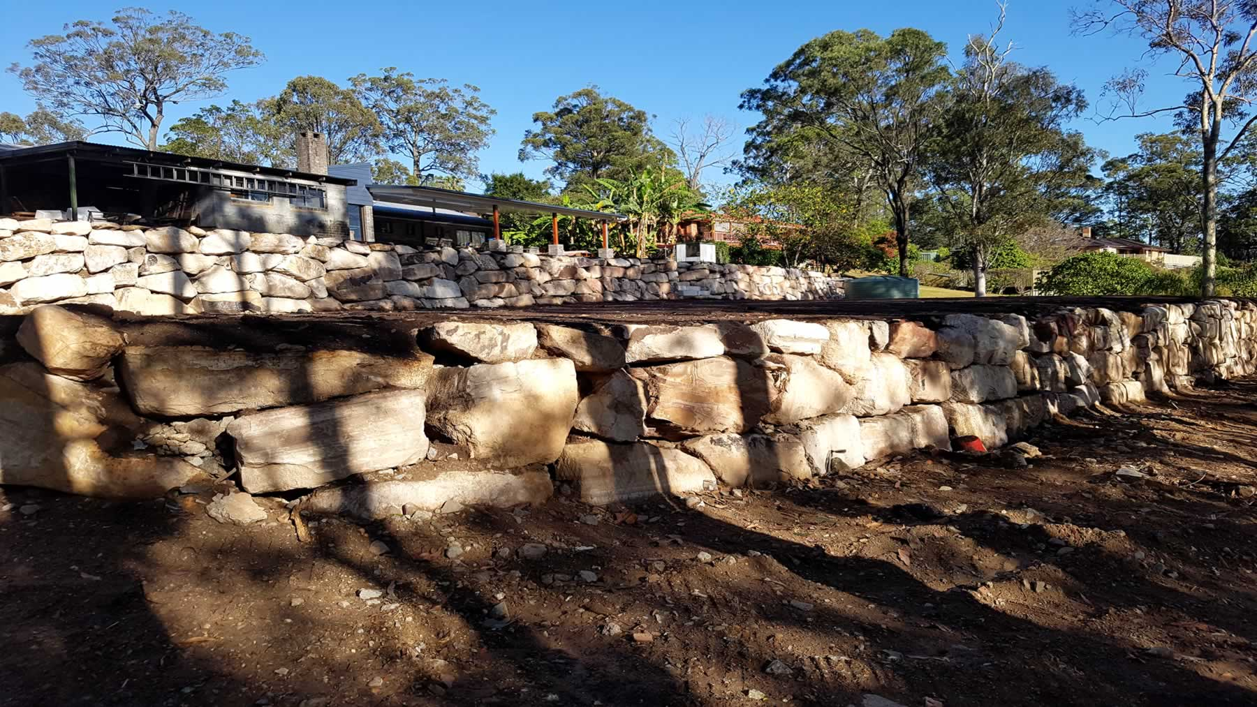 industrial commercial large size rock retaining walls gold coast