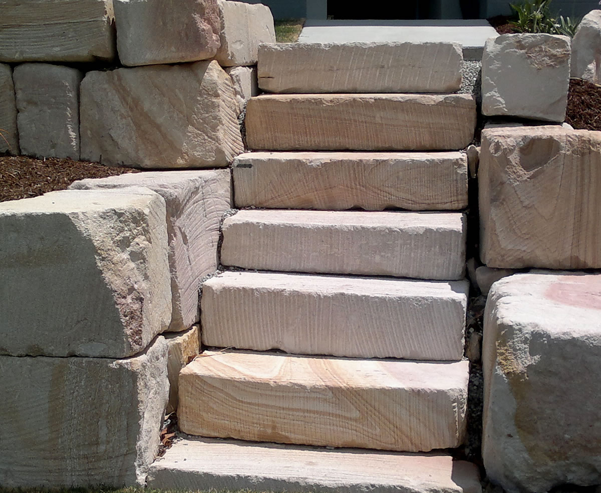 rock stairs landscaping gold coast